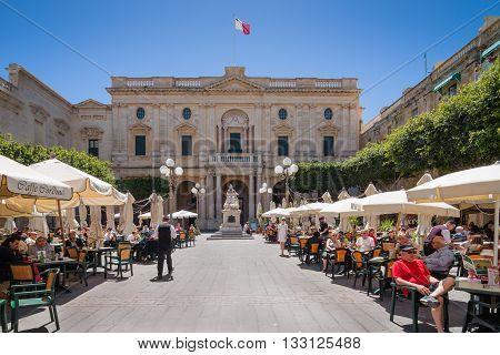 Valletta, Malta - May 05, 2016: National Library Of Malta