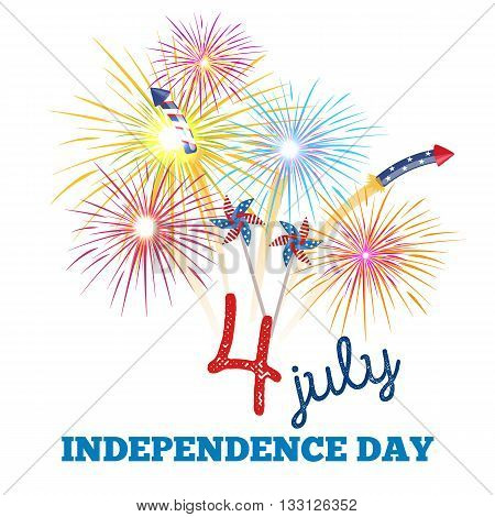 Happy 4th of July - Independence Day Design - July Fourth