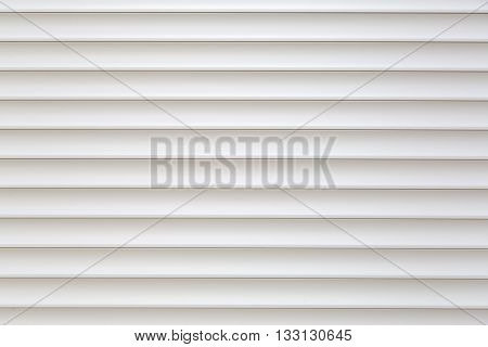 Pure and clean white striped jalousie background copy space