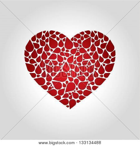 heart blood logo and blood donation concept vector illustration
