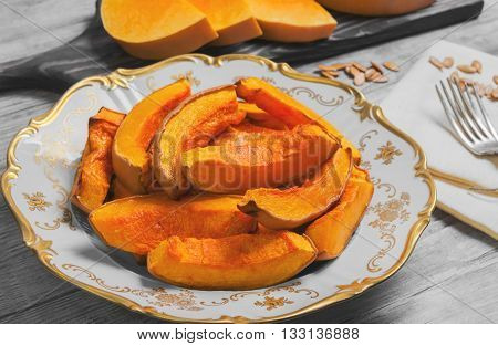 Baked Pumpkin Food Photo