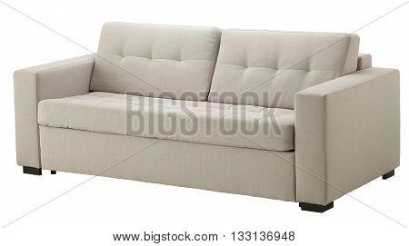 White Sofa Isolated