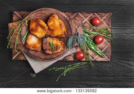 Meat Fried Pork Steak