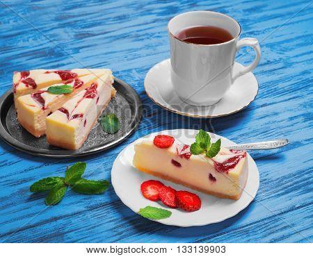 Cake Cheesecake Strawberry