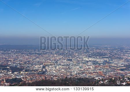 View of the city of Stuttgart in Germany