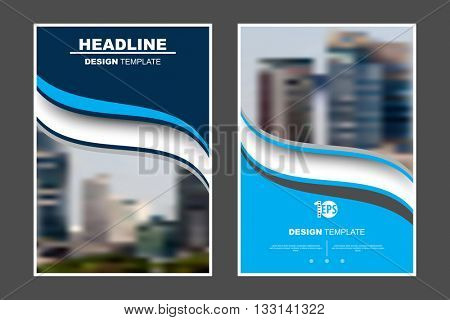 A4 size, abstract flat layout wave elements marketing business corporate design template. eps10 vector