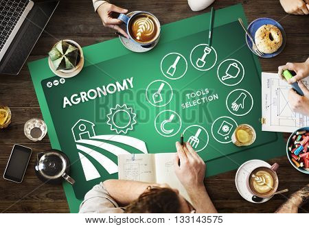 Agronomy Graphic Meeting Conference Concept