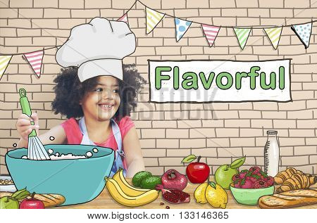 Flavorful Foodie Delicious Cooking Gourmet Concept