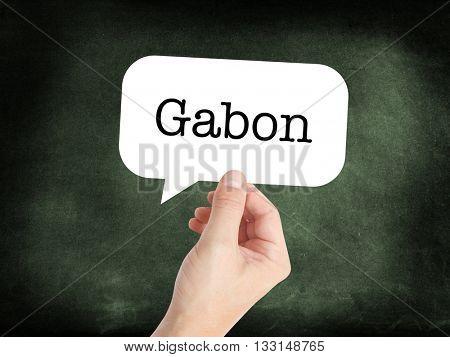 Gabon concept in a speech bubble