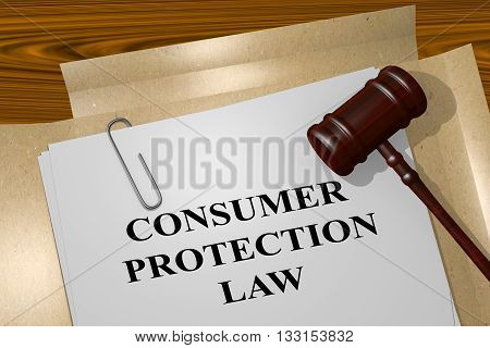 Consumer Protection Law Legal Concept