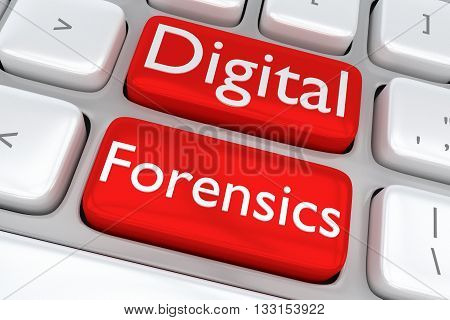 Digital Forensics Software Concept