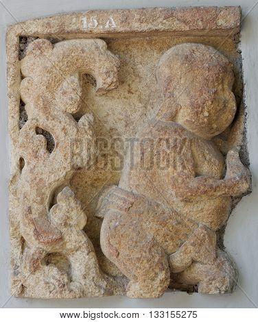Javanese Clownish Character Punakawan Relief 12th - 14th century