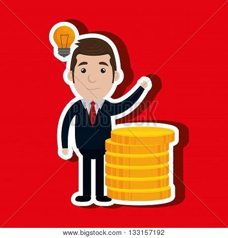 businessperson avatar design, vector illustration eps10 graphic