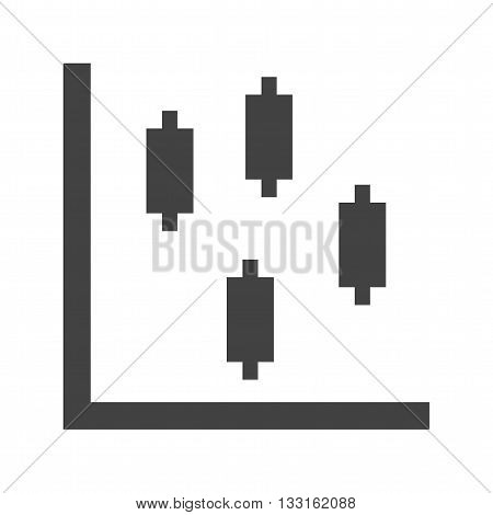 Bar, chart, candlestick icon vector image. Can also be used for infographics. Suitable for use on web apps, mobile apps and print media.