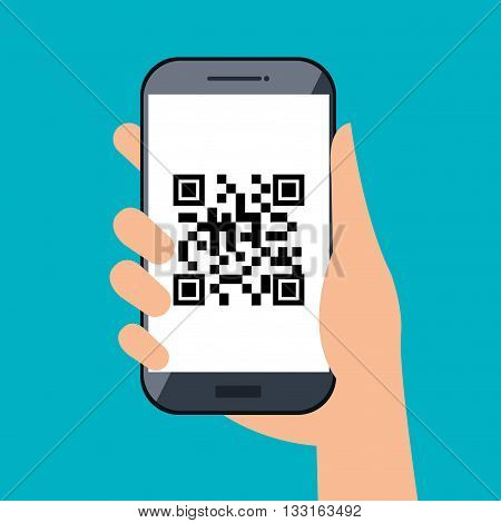code qr design, vector illustration eps10 graphic
