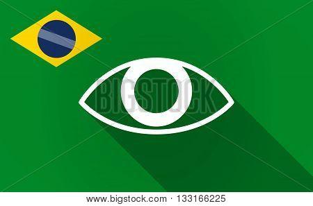 Long Shadow Brazil Flag With An Eye