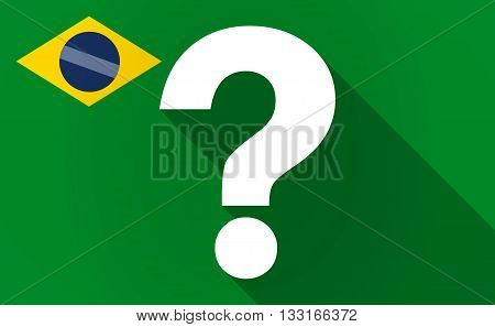 Long Shadow Brazil Flag With A Question Sign