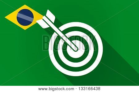 Long Shadow Brazil Flag With A Dart Board