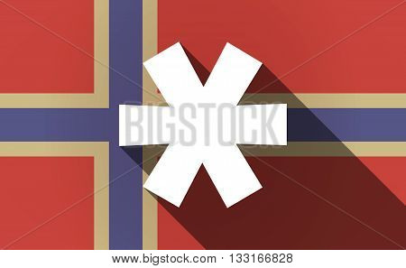 Long Shadow Norway Flag With An Asterisk