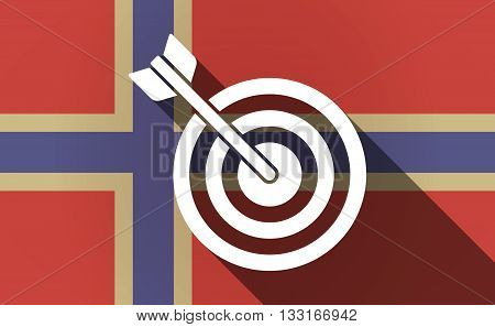 Long Shadow Norway Flag With A Dart Board