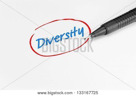 Diversity Text - Business Concept