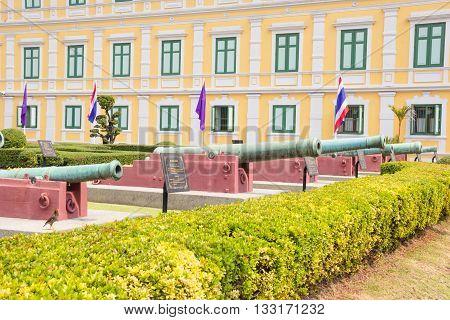 Artillery at Ministry of Defense Bangkok Thailand