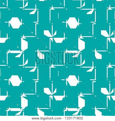 Vector abstract symmetric ornate background created with simple geometric shapes.