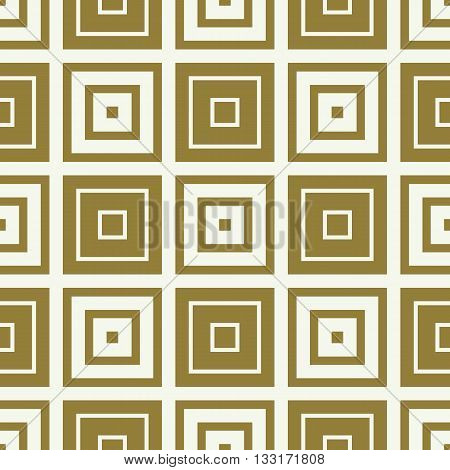 Vector abstract seamless symmetric ornate background created with simple geometric shapes squares.