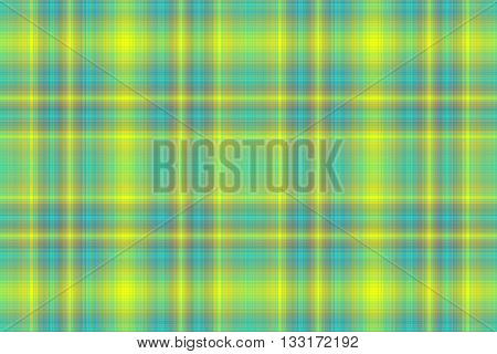Illustration of yellow and cyan blue checkered pattern