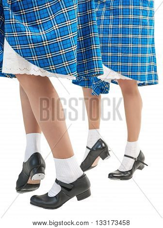 Woman Legs In Shoes For Scottish Dance