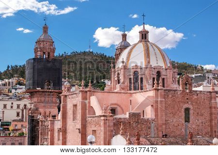 The Cathedral of Our Lady of the Assumption of Zacatecas Mexico. Unesco World Heritage site.