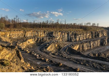 The landscape in a quarry career .
