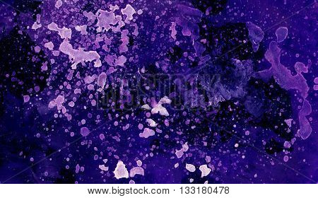 Cosmic Paper Marble Texture. Background texture. Color abstract background. Blue space watercolor background. Hand drawn gouache paint background. Colorful background texture.