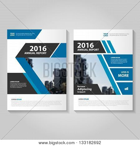 Blue Black Vector annual report Leaflet Brochure Flyer template design book cover layout design abstract business presentation template a4 size design