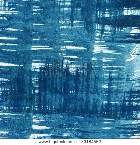 Abstract Paint Brush Texture Art Background. Blue color. Colorful effect of paint and paper. Paint texture background. Splatter Paint Splash background textures.