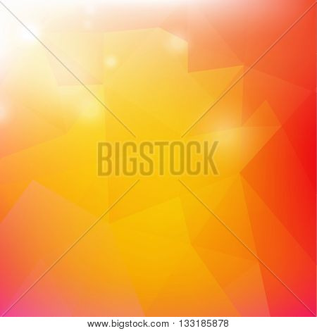 Origami Poster, Isolated on Transparent Background, Vector Illustration