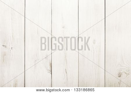 White wood floor texture and background. White painted wood texture background. Rustic, shabby chick wooden background. Aged wood planks pattern. Wooden surface. Vertical timber texture