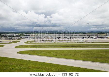 Aerial View Of Munich International Airport