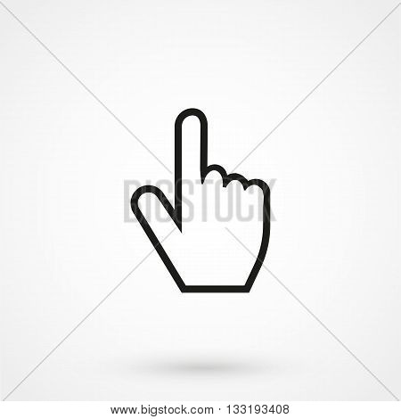 Hand Cursor Icon In A Simple Style