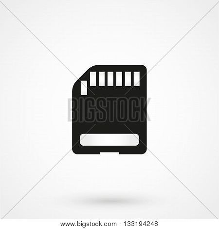 Micro Sd Card Icon In A Simple Style