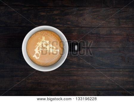 Latte Art - Giraffe Portrait On Coffee