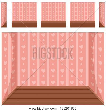 seamless Empty room background, vector set 2 in vector