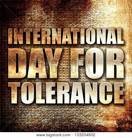 international day for tolerance, 3D rendering, metal text on rus