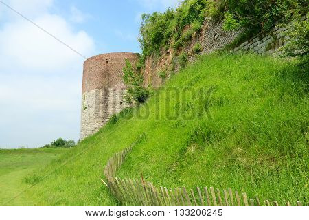 RAMPARTS AND TOWER OF MONTREAL OF SEA, PAS DE CALAIS , THE NORTH OF FRANCE