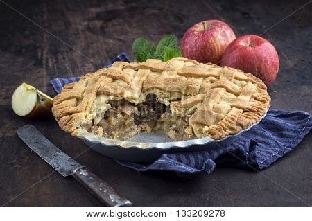 Apple Pie in Backing Form