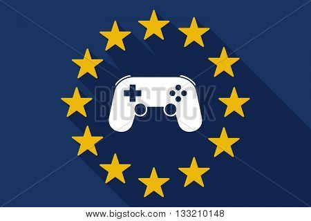 Long Shadow Eu Flag With  A Game Pad