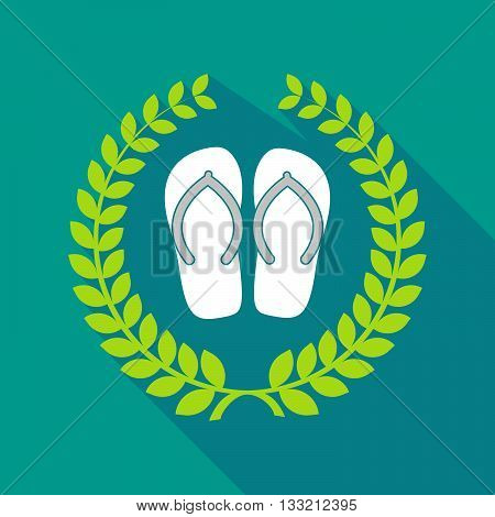 Long Shadow Laurel Wreath Icon With   A Pair Of Flops