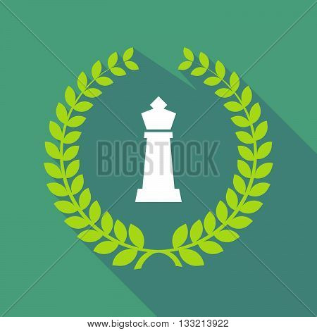Long Shadow Laurel Wreath Icon With A  King   Chess Figure