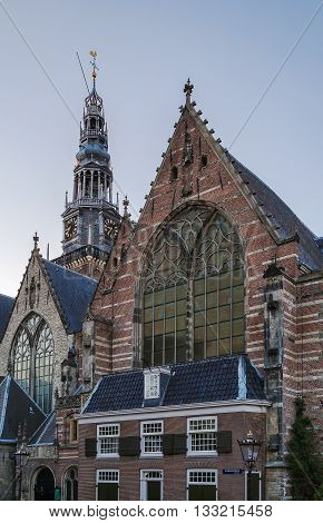 The 800 year old Oude Kerk (old church) is Amsterdam oldest building and oldest parish church