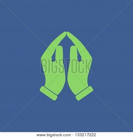Praying hands icon vector illustration. Flat design style
